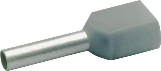 Klauke 8708 Dubbele adereindhuls 2 x 0.75 mm² x 8 mm Deels geïsoleerd Grijs 1000 stuks