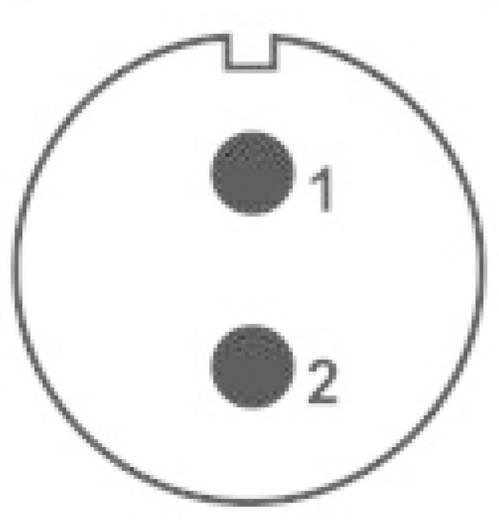 IP68-connector serie SP2110 / P 2 I In-line-stekker Weipu SP2111 / P 2 I IP68 Aantal polen: 2