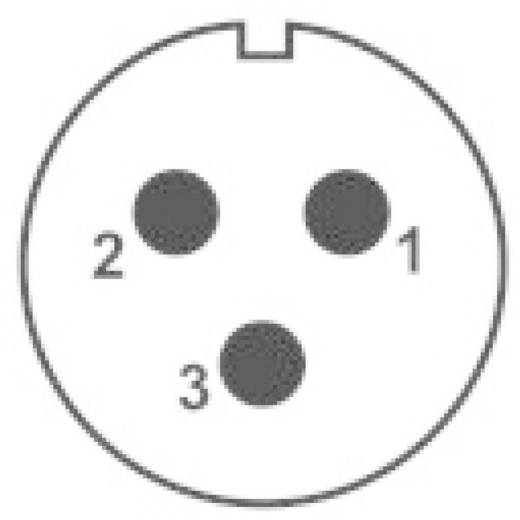 IP68-connector serie SP2112 / P 3 Apparaatstekker voor frontmontage Weipu SP2112 / P 3 IP68 Aantal polen: 3