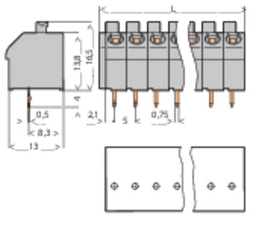 Veerkachtklemblok 1.00 mm² Aantal polen 4 250-504 WAGO Grijs 1 stuks