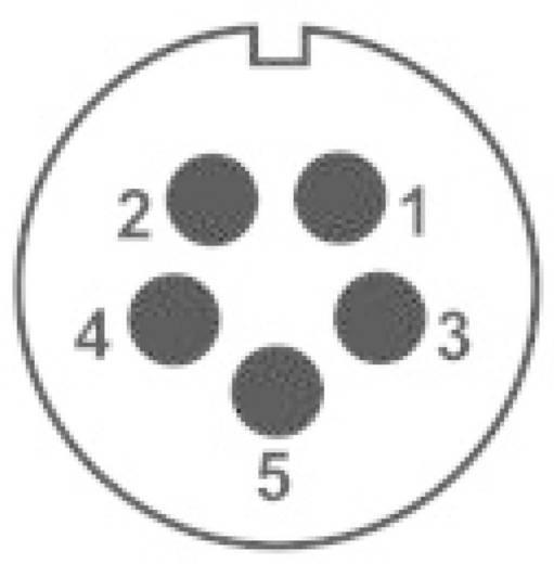 IP68-connector serie SP2112 / P5 Aantal polen: 5 Apparaatstekker voor frontmontage 30 A SP2112 / P5 Weipu 1 stuks