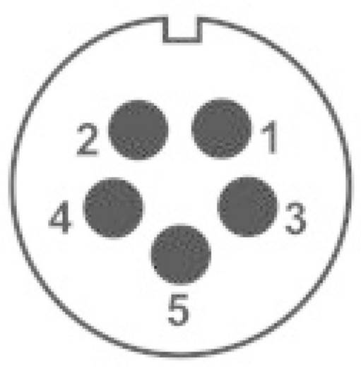IP68-connector serie SP2112 / P5 Apparaatstekker voor frontmontage Weipu SP2112 / P5 IP68 Aantal polen: 5