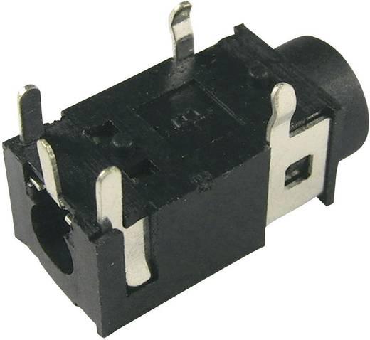 Cliff FC68127 Jackplug 3.5 mm Bus, inbouw horizontaal Aantal polen: 4 Stereo Zwart 1 stuks