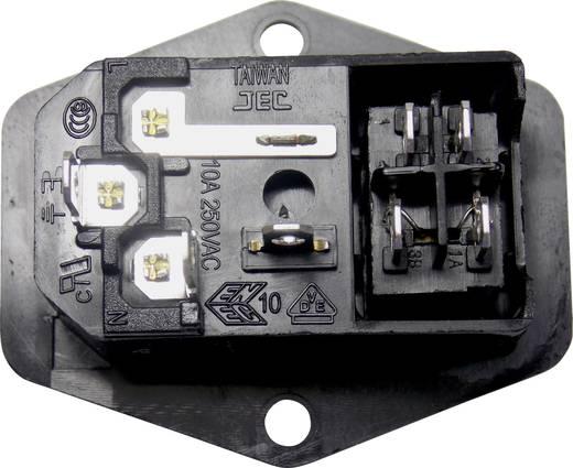 K & B 59JR101-1FR-LR Apparaatstekker C14 Stekker, inbouw verticaal Totaal aantal polen: 2 + PE 10 A Zwart 1 stuks