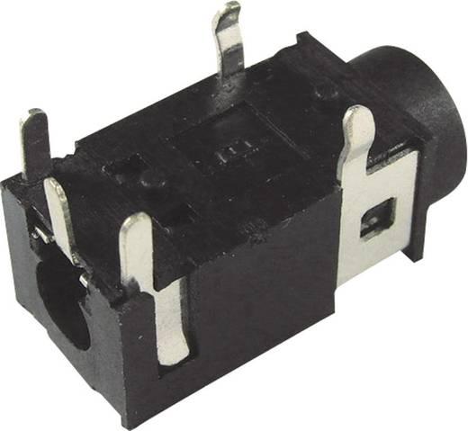 Cliff FC68129 Jackplug 3.5 mm Bus, inbouw horizontaal Aantal polen: 4 Stereo Zwart 1 stuks