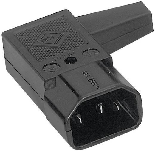 K & B Apparaatstekker C14 Stekker, haaks Totaal aantal polen: 2 + PE 10 A Zwart 1 stuks