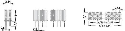 Female header (standaard) Aantal rijen: 2 Aantal polen per rij: 36 Fischer Elektronik BL 2/ 72/Z 1 stuks