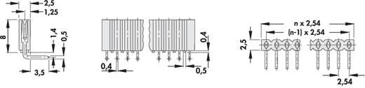 Female header (standaard) Aantal rijen: 1 Aantal polen per rij: 36 Fischer Elektronik BL 3/ 36/Z 1 stuks