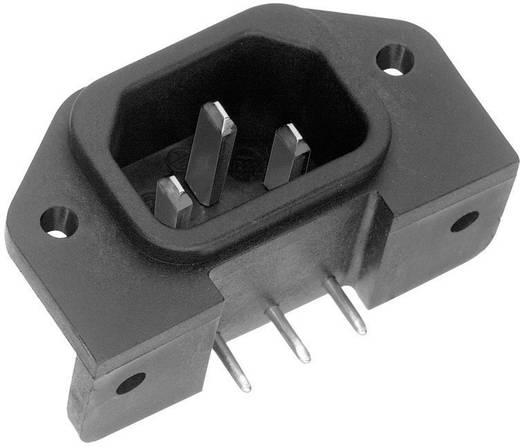 Apparaatstekker C14 Serie (connectoren) 42R Stekker, inbouw verticaal Totaal aantal polen: 2 + PE 10 A Zwart K & B 42R65