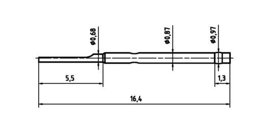 PTR H 1007 L Huls voor precisiemeetpennen serie 1007 met veercontact