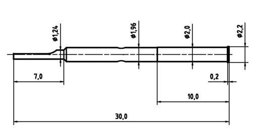 PTR H 2021 L Huls voor precisiemeetpennen serie 2021 met veercontact