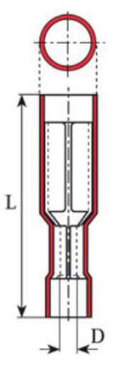Vogt Verbindungstechnik 3915 Kabelschoen, female (rond) 0.5 mm² 1 mm² Stift-Ø: 4 mm Volledig geïsoleerd Rood 1 stuks