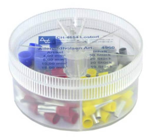 Vogt Verbindungstechnik 737086 Adereindhuls assortiment 4 mm² 16 mm² Grijs, Geel, Rood, Blauw 100 stuks