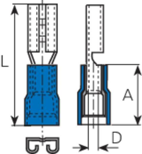 Vogt Verbindungstechnik 3905 Vlakstekker Insteekbreedte: 4.8 mm Insteekdikte: 0.8 mm 180 ° Deels geïsoleerd Blauw 1 stu