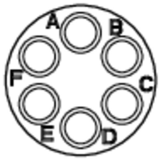 Kabelconnector-bus - serie RT360 Nominale stroom: 5 A Aantal polen: 6 RT0610-6SNH Amphenol