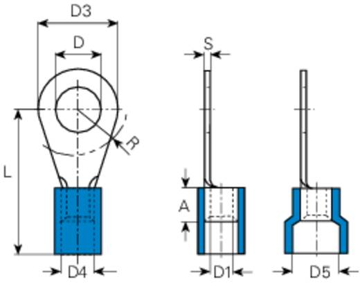Vogt Verbindungstechnik 3641A Ringkabelschoen Dwarsdoorsnede (max.): 2.5 mm² Gat diameter: 8.5 mm Deels geïsoleerd Blau