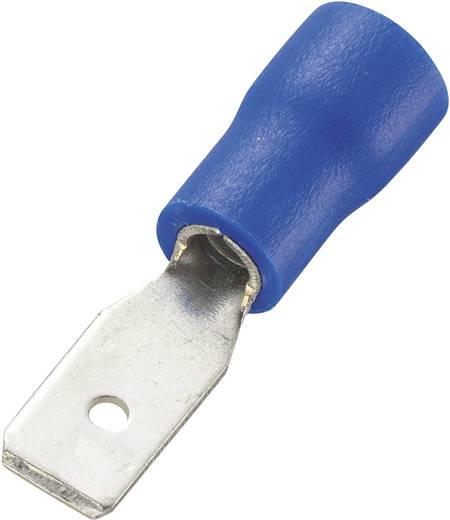 Conrad Components 93014c522 Vlakstekker (plat) Insteekbreedte: 4.8 mm Insteekdikte: 0.5 mm 180 ° Deels geïsoleerd Blauw 100 stuks