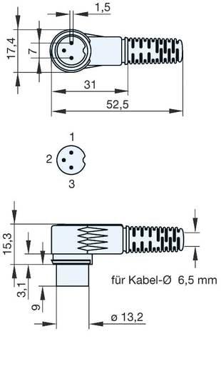 Hirschmann MAWI 30 B DIN-connector Stekker, haaks Aantal polen: 3 Grijs 1 stuks
