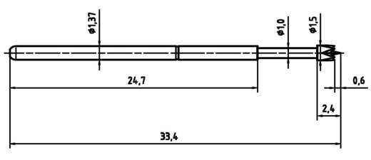 PTR 1025-M-1.5N-AU-1.5 Precisietestpen voor het testen van printplaten veercontact