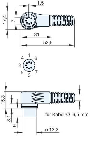 Hirschmann MAWI 80 SNB DIN-connector Stekker, haaks Aantal polen: 8 Grijs 1 stuks
