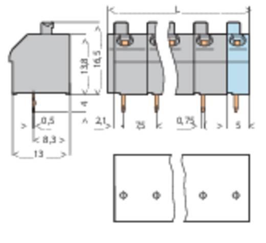 Veerkachtklemblok 1.00 mm² Aantal polen 11 WAGO Grijs 1 stuks
