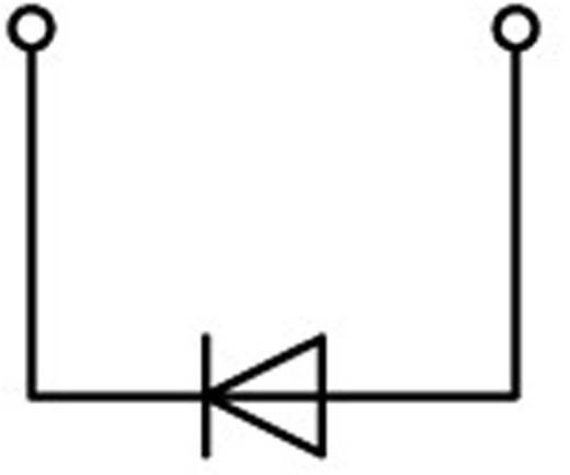Diodeklem 4.20 mm Veerklem Toewijzing: L Grijs WAGO 2001-1211/1000-411 1 stuks