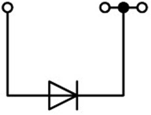 Diodeklem 4.20 mm Veerklem Toewijzing: L Grijs WAGO 2001-1311/1000-410 1 stuks