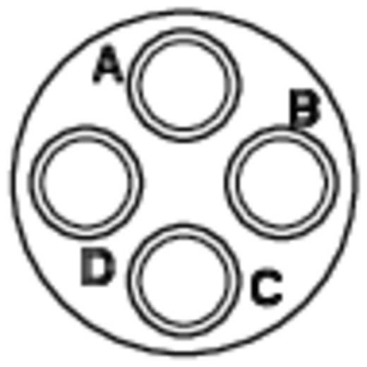 Kabelsteker - serie RT360 Kabelstekker Nominale stroom: 13 A Aantal polen: 4 RT0610-4PNH Amphenol Inhoud: 1 stuks