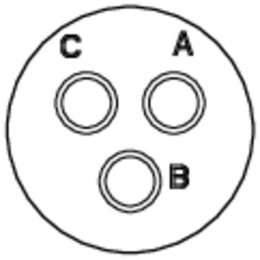 Apparaatsteker - serie RT360 Vierkante flens Aantal polen: 3 RT0012-3PNH Amphenol