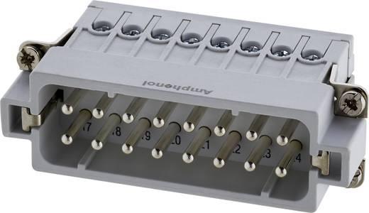 Stekker inzetstuk Verzilverde contacten Amphenol C146 10A016 002 4 1 stuks