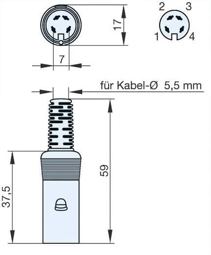 Hirschmann MAK 40 DIN-connector Bus, recht Aantal polen: 4 Grijs 1 stuks