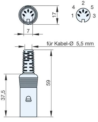 Hirschmann MAK 60 DIN-connector Bus, recht Aantal polen: 6 Grijs 1 stuks
