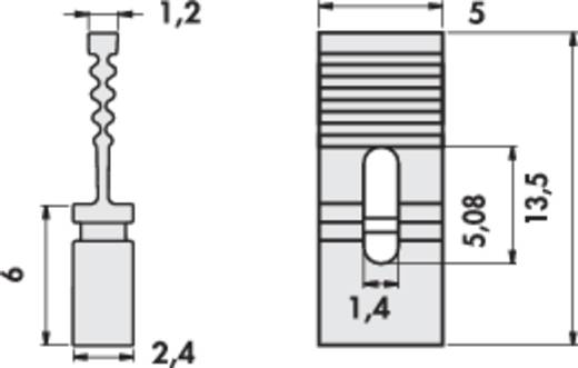 Fischer Elektronik CAB 9 G R Kortsluitingsbrug Rastermaat: 2.54 mm Aantal polen:2 Inhoud: 1 stuks