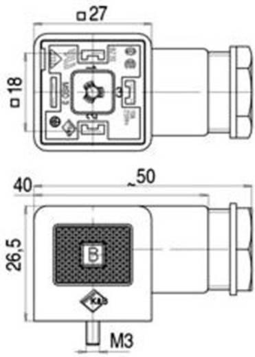 Binder 43-1700-002-03 Magnetische klepconnector model A serie 210 Zwart Aantal polen:2+PE Inhoud: 1 stuks