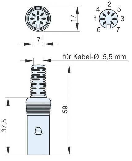 Hirschmann MAK 70 S DIN-connector Bus, recht Aantal polen: 7 Grijs 1 stuks