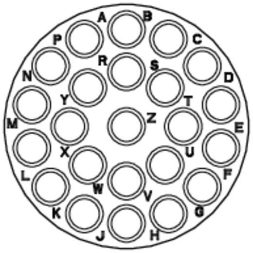 Kabelsteker - serie RT360 Kabelstekker Nominale stroom (details): 13 A Aantal polen: 23 RT0618-23PNH Amphenol Inhoud: 1