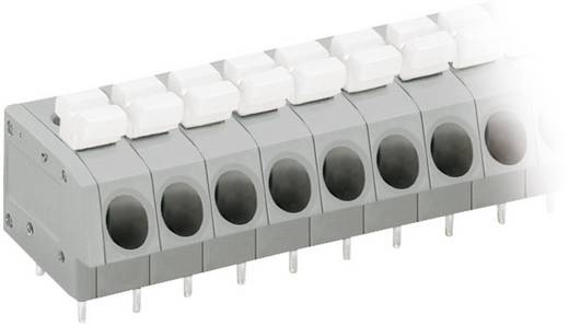 Veerkachtklemblok 2.50 mm² Aantal polen 6 804-106 WAGO Grijs, Wit 1 stuks