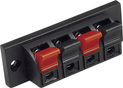 BKL Electronic 205026 Luidsprekerconnector Bus, inbouw verticaal Aantal polen: 4 Zwart 1 stuks