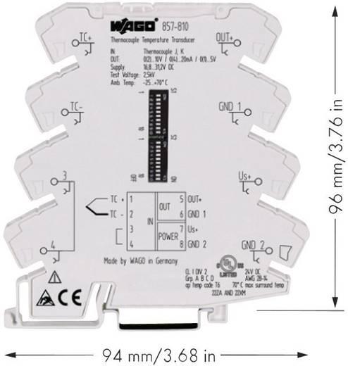 WAGO 857-810 Configureerbare temperatuurmeetomvormer voor thermo-elementen type J en K 857-810
