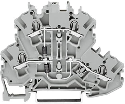 Diodeklem 2-etages 5.20 mm Veerklem Toewijzing: L Grijs WAGO 2002-2214/1000-491 1 stuks