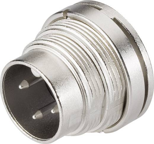 Ronde miniatuurstekker serie 682 Aantal polen: 3 DIN Flensstekker 7 A 09-0307-80-03 Binder 1 stuks