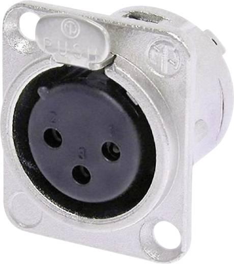 Neutrik NC3F-DL-1 XLR-connector Flensbus, contacten recht Aantal polen: 3 Zilver 1 stuks