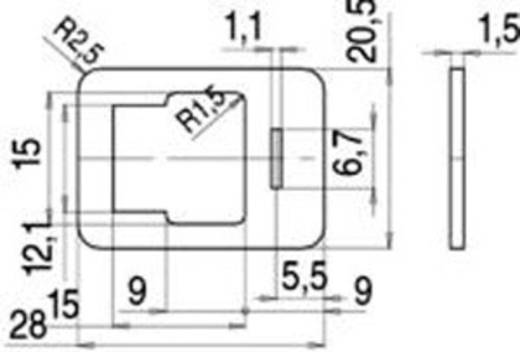 Binder 16-8093-000 Vlakke afdichting model B serie 225 Beige Inhoud: 1 stuks