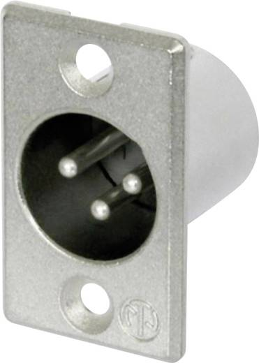 Neutrik NC3MP XLR-connector Flensstekker, contacten recht Aantal polen: 3 Zilver 1 stuks