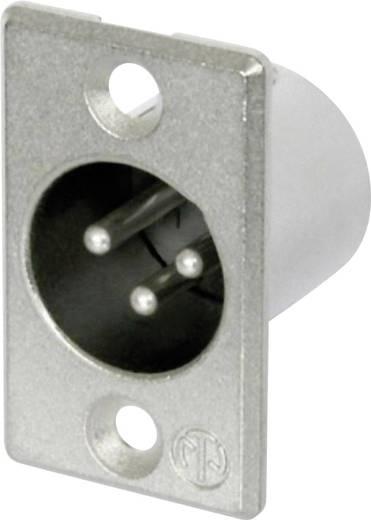 XLR-connector Flensstekker, contacten recht Neutrik NC3MP Aantal polen: 3