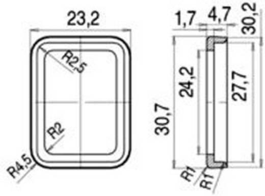 Binder 16-8105-000 Profieldichting uitvoering B serie 225 Zwart Inhoud: 1 stuks