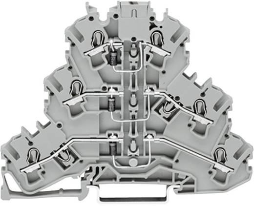 Diodeklem 3-etages 5.20 mm Veerklem Toewijzing: L Grijs WAGO 2002-3212/1000-674 1 stuks