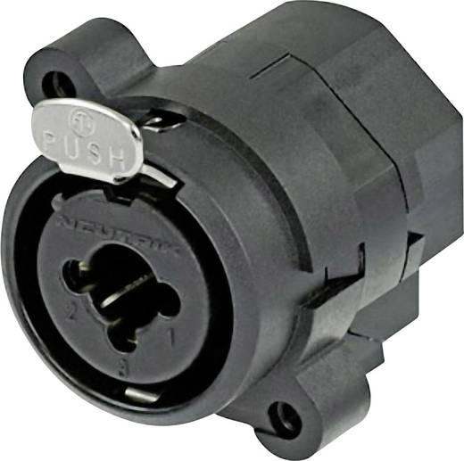 Neutrik NCJ9FI-S XLR-connector Flensbus, contacten recht Aantal polen: 3 Zwart 1 stuks