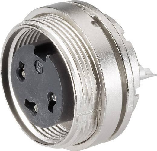 Ronde miniatuurstekker serie 682 Flensdoos Binder 09-0308-80-03 IP40 Aantal polen: 3 DIN