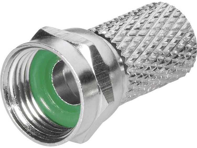 BKL Electronic 0403018/GN F-stekker met draaiaansluiting Kabeldiameter: 6.8 mm